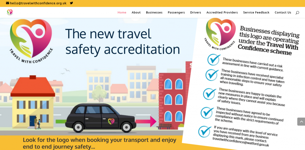 An image of the Travel With Confidence Website